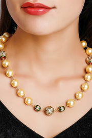 Women's Alloy Bead Necklaces in Gold