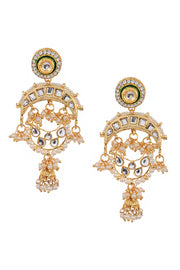 Women's Alloy Jhumka Earrings in Gold