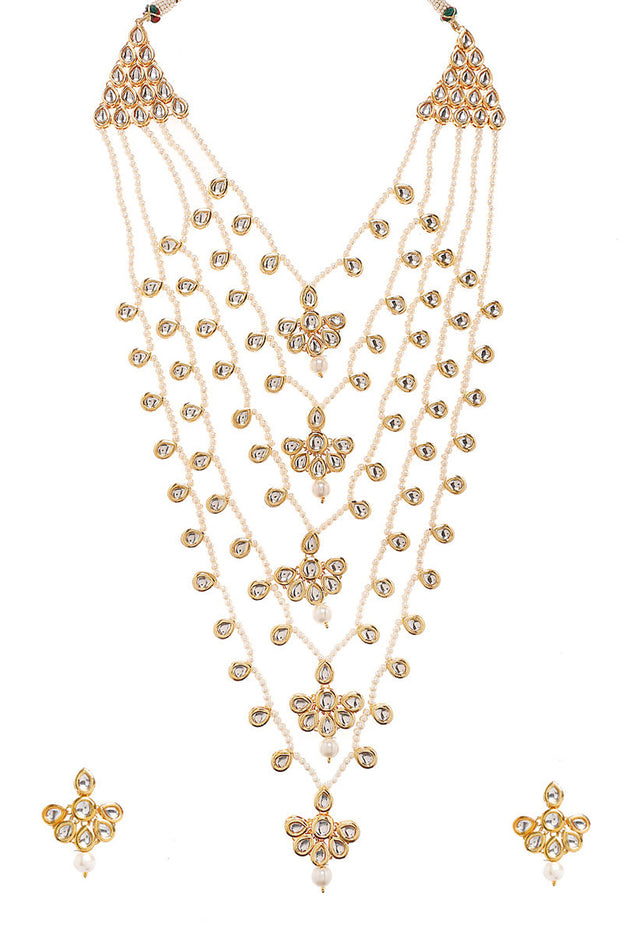 Women's Alloy Necklace Set in Pearl