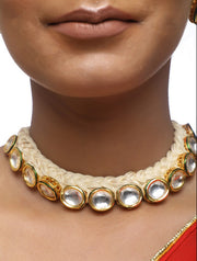 Alloy Necklace and Earrings Set in Gold