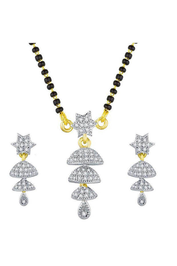 Buy Women's Alloy Mangalsutra in White Online
