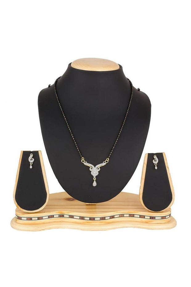 Buy Women's Alloy Mangalsutra in Gold and Black Online
