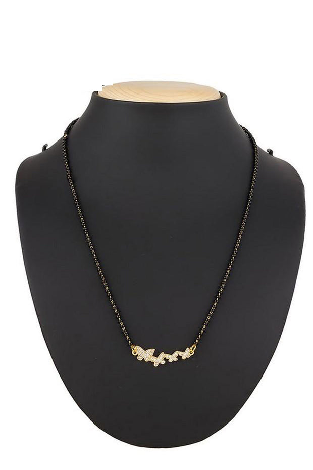 Buy Women's Alloy Mangalsutra in White and Gold Online
