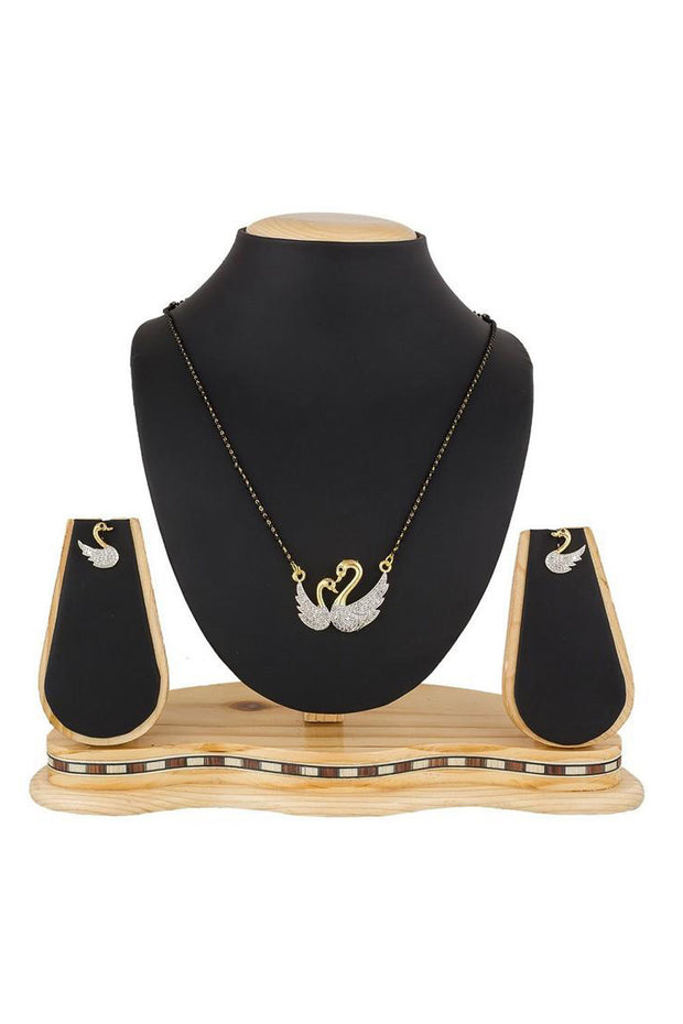Buy Women's Alloy Mangalsutra in White and Black Online