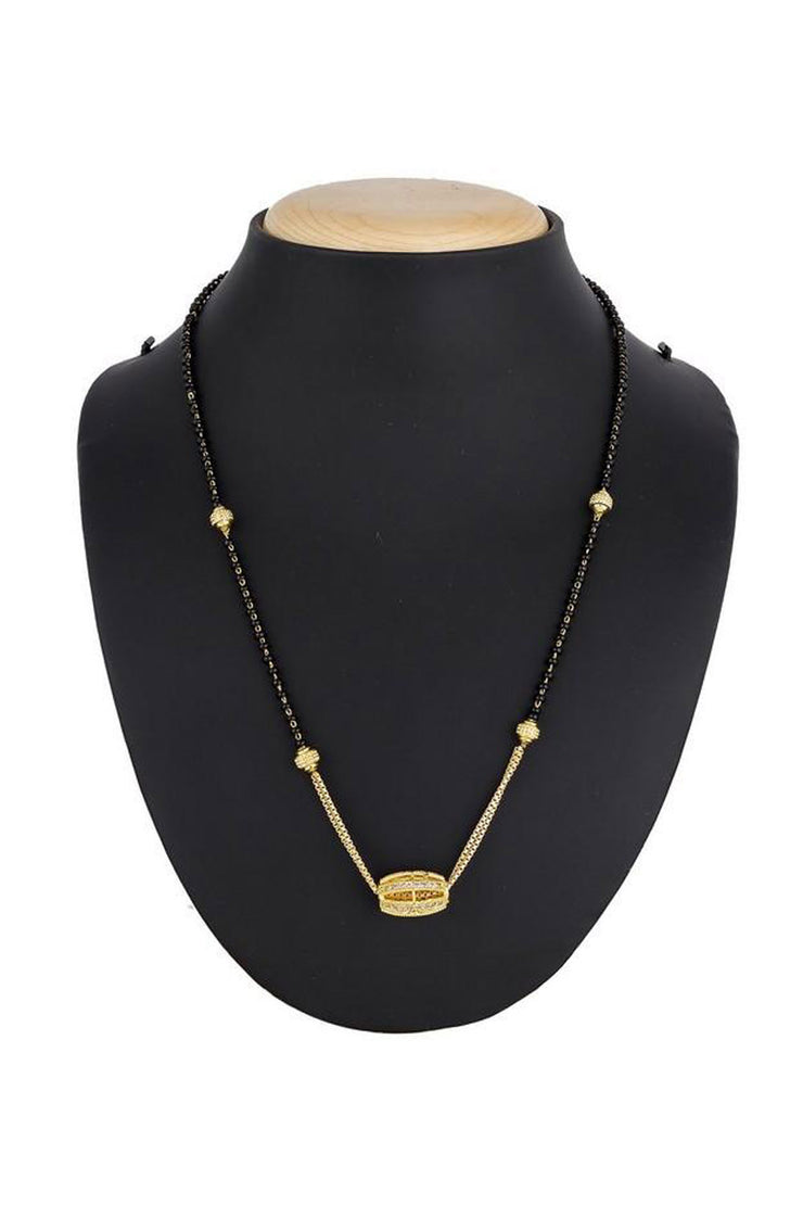 Women's Alloy Mangalsutra in Gold and Black