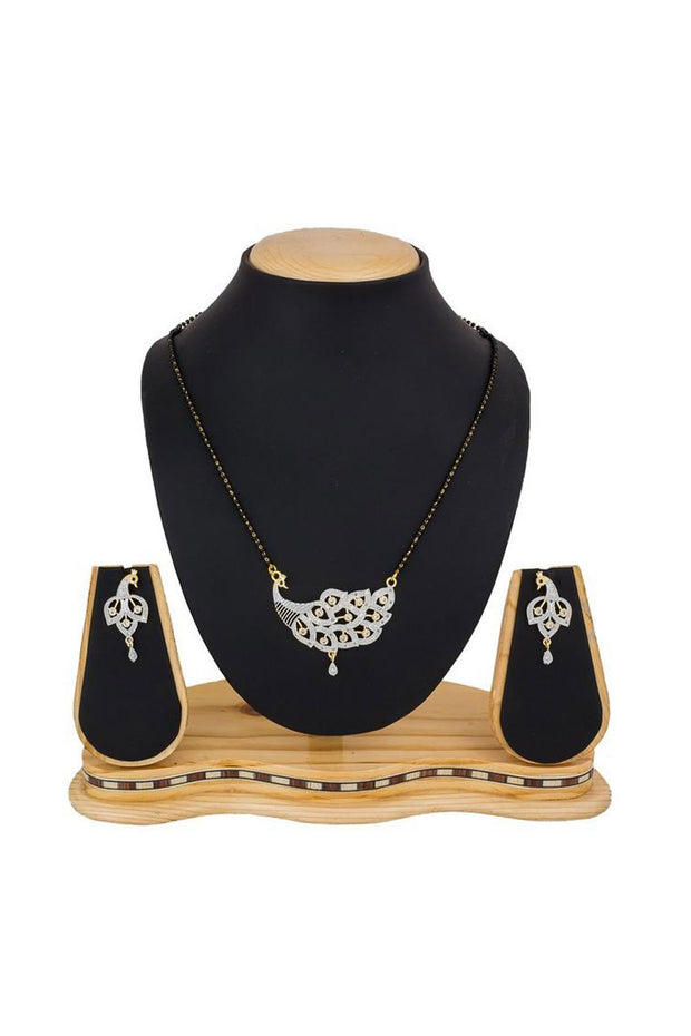 Women's Alloy Mangalsutra Set in Gold and Silver