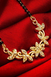 Women's Alloy Mangalsutra in Silver and Gold
