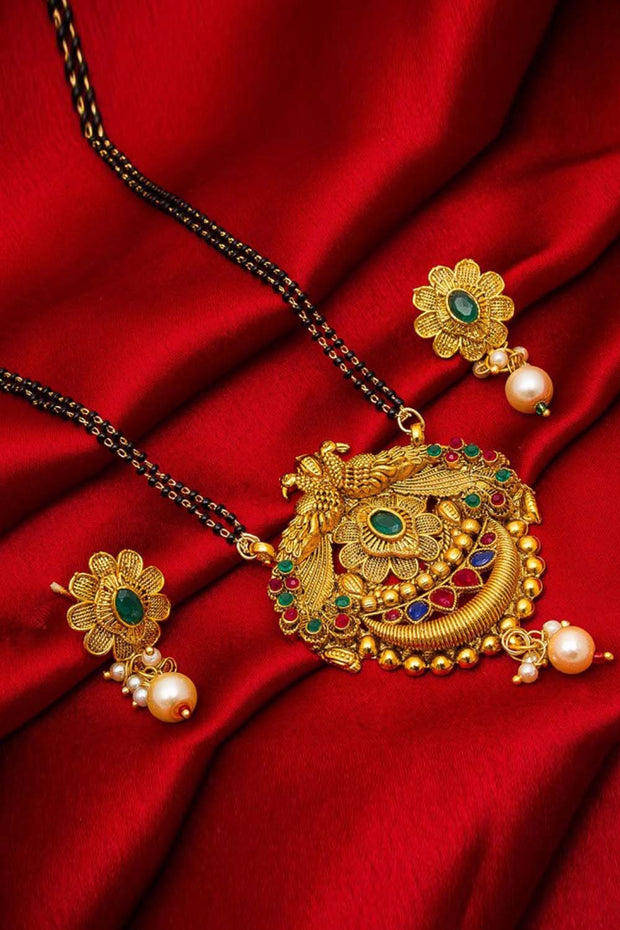 The Luxor Women's Alloy Mangalsutra Set in Gold