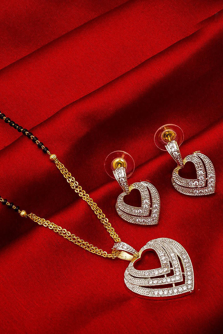 Buy Women's Alloy Mangalsutra Set in Silver and Gold Online