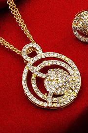 Shop Alloy Mangalsutra and Earrings For Women's  Set in Gold and White At KarmaPlace