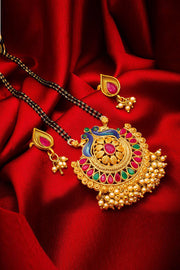 Buy Women's Alloy Mangalsutra Set in Gold Online