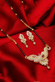 Buy Women's Alloy Mangalsutra Set in Gold and Black Online
