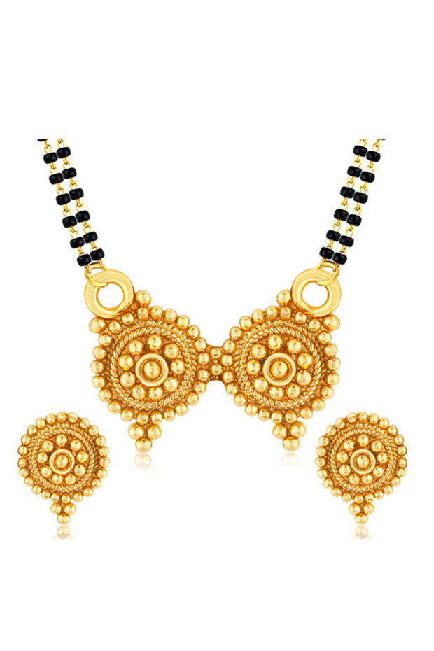 Alloy Mangalsutra Set in Gold