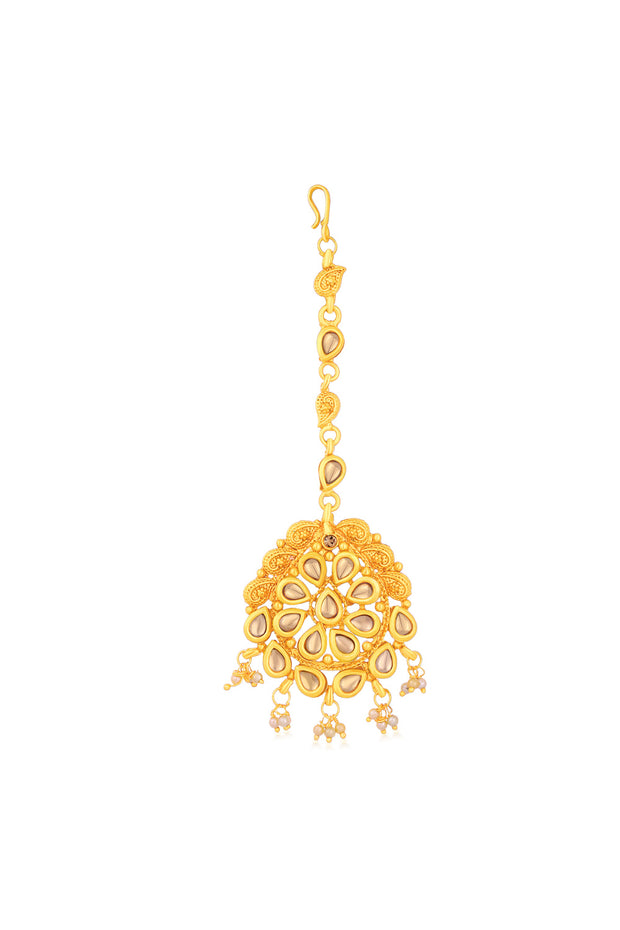 Women's Alloy Maang Tikka in Gold