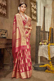 Buy Banarasi Art Silk Saree in Pink