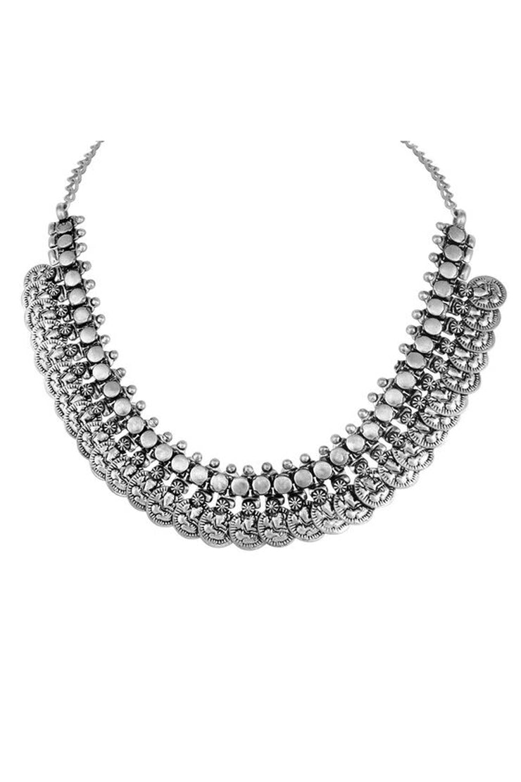 Alloy Necklace in Silver