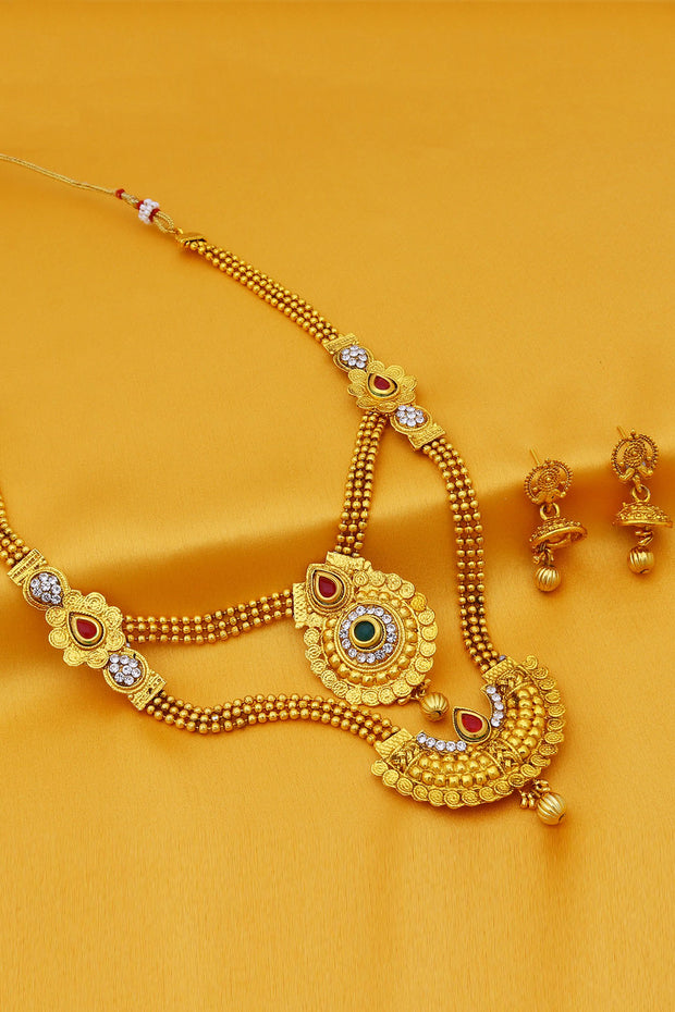 Sukkhi Alloy Necklace Set in Gold