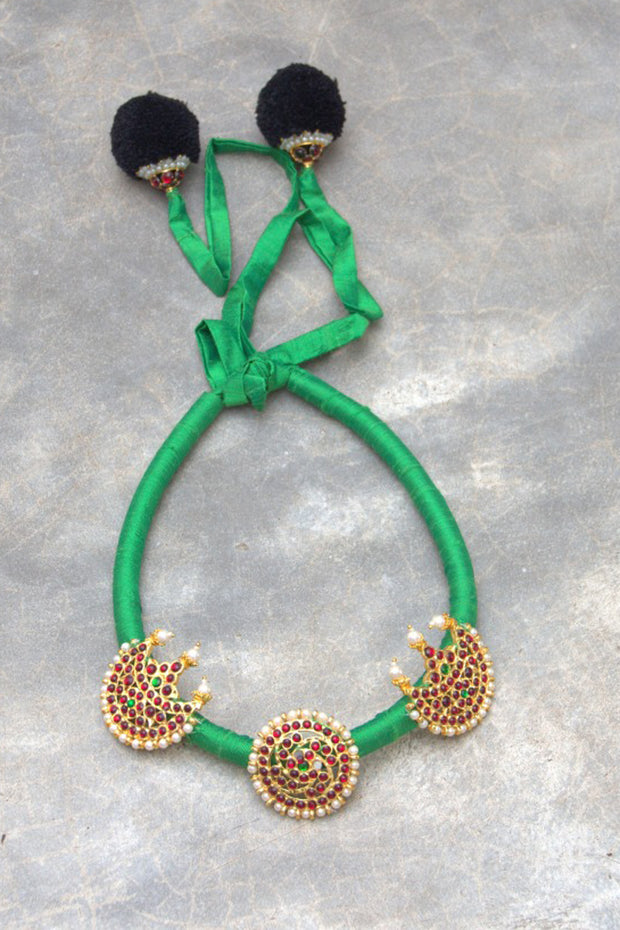 Organic Silk Necklace in Green