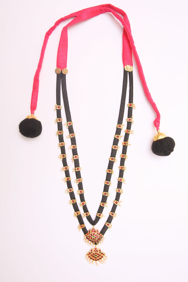 Organic Silk Necklace in Black