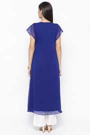 Georgette Asymmetric Kurta in Blue