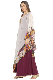Georgette Asymmetric Kurta in Cream