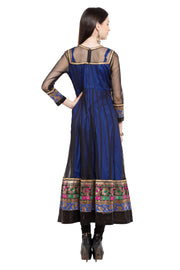 Net Anarkali Kurta in Black