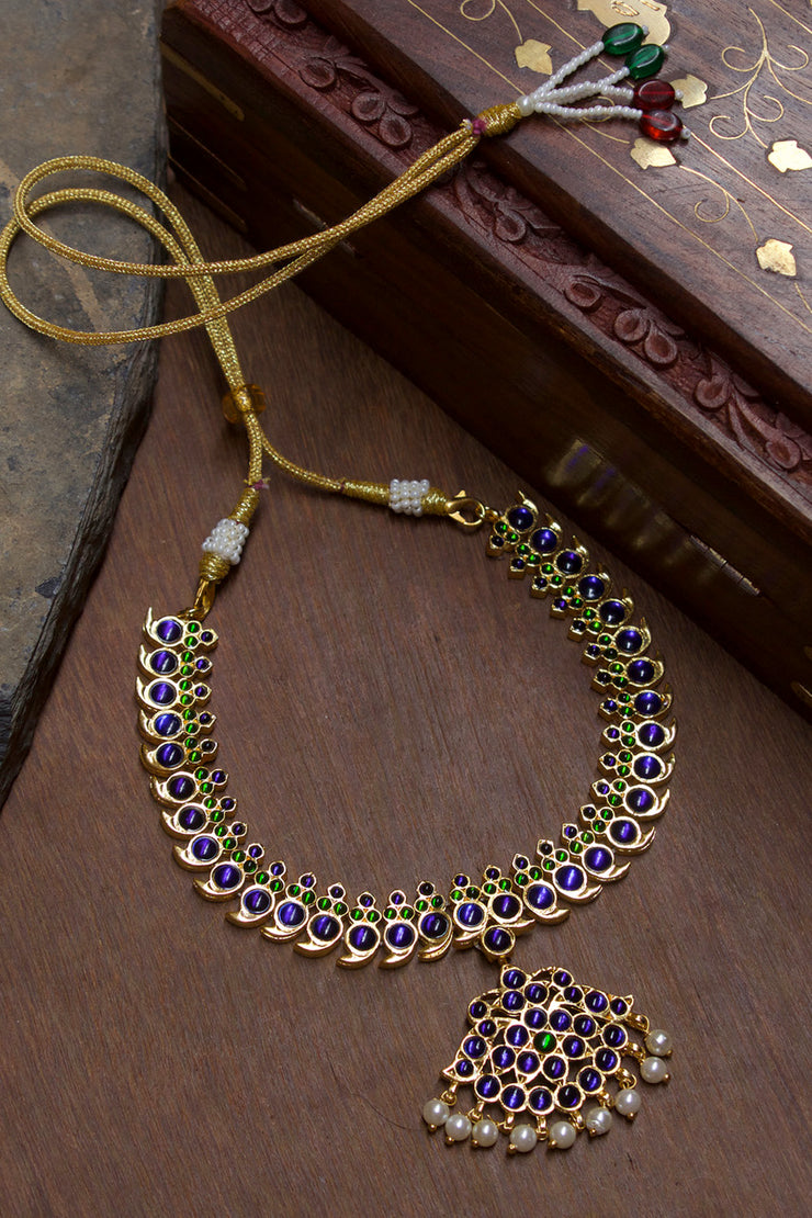 Women's Alloy Choker Necklace in Blue and Green