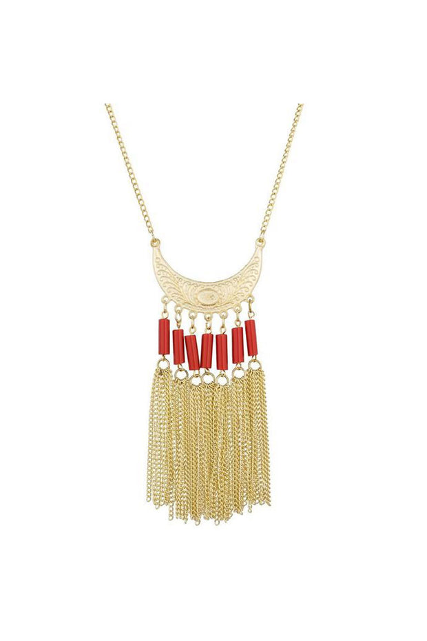 Buy Women's Alloy Necklace in Gold and Peach Online