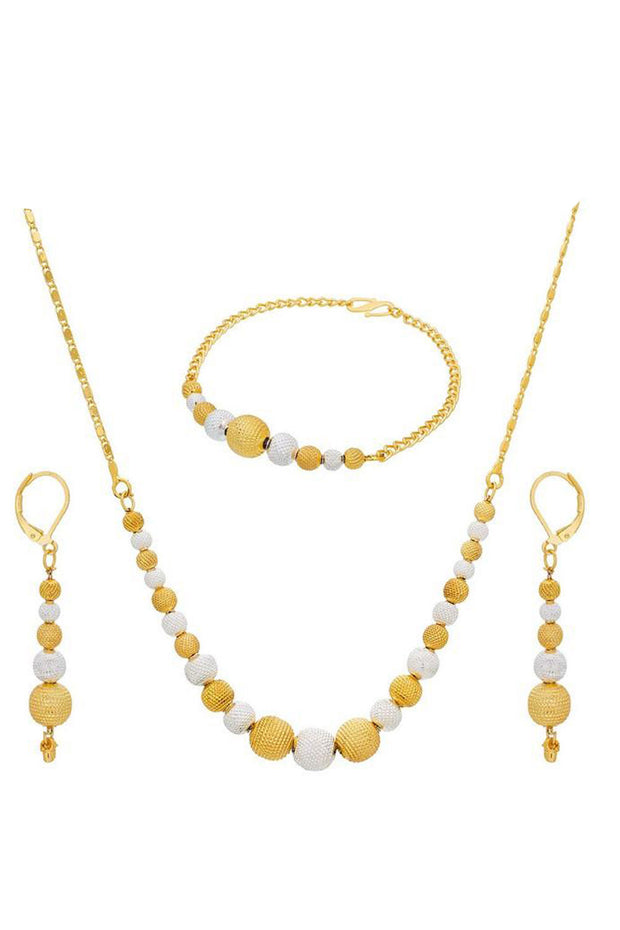 Buy Women's Alloy Necklace in Gold and White Online