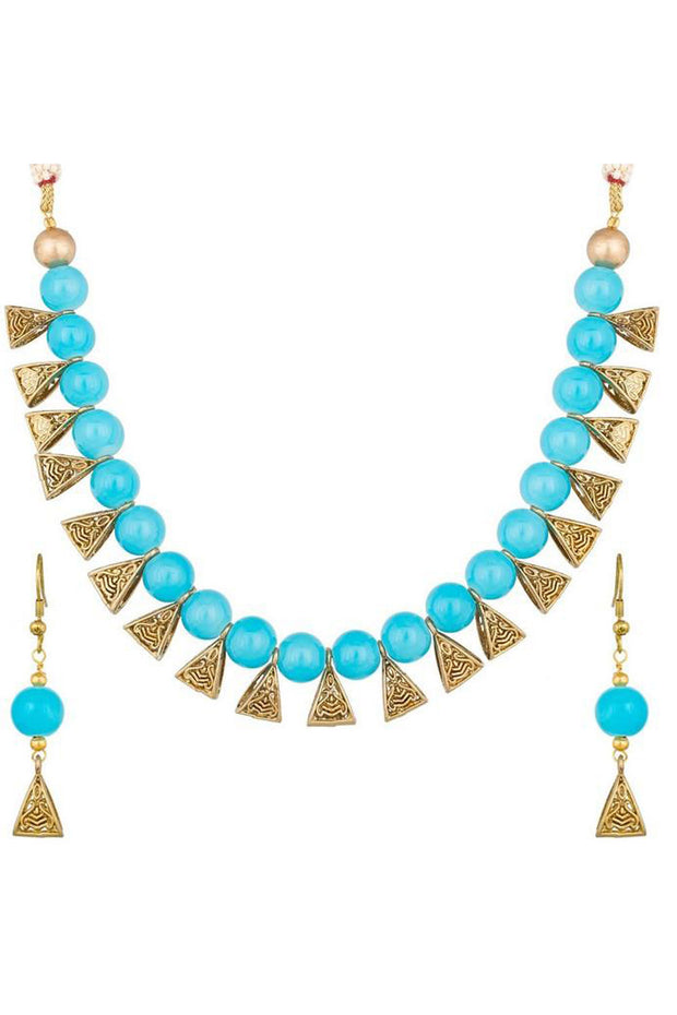 Buy Women's Alloy Necklace in Turquoise Online