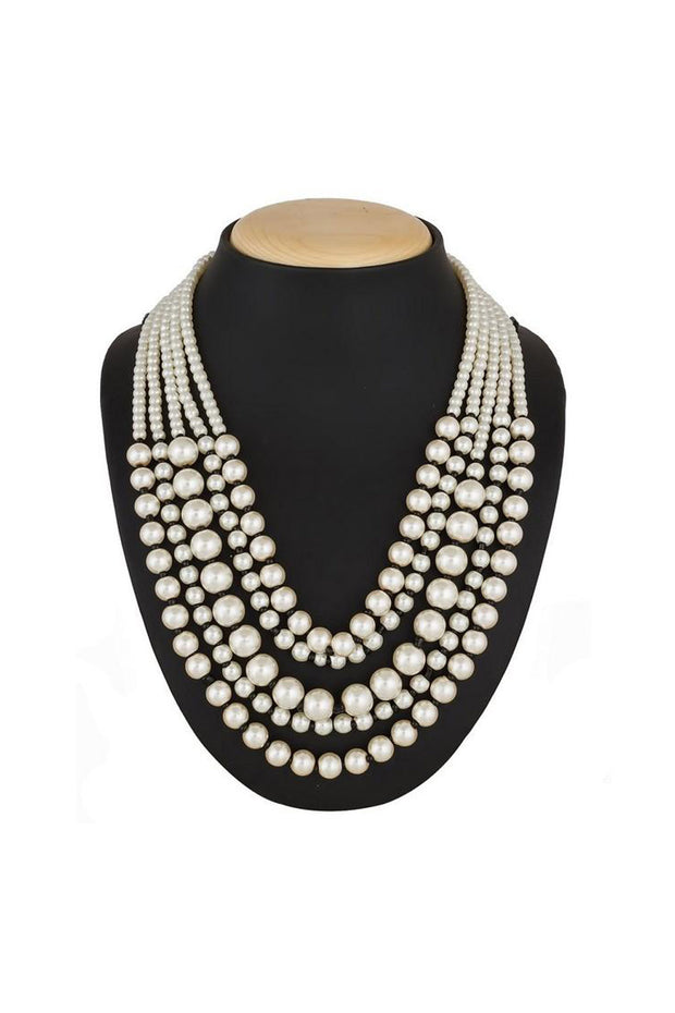 The Luxor Women's's Alloy Necklace in White