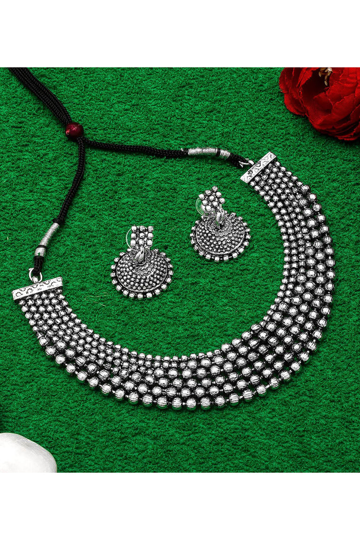 Buy Women's Alloy Necklace Set in Silver