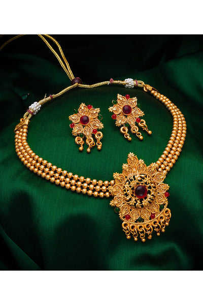 Buy Women's Alloy Necklace Set in Gold