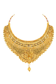 Women's Zinc Necklace Set in Gold