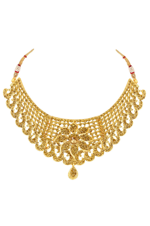 Asmitta Women's Zinc Necklace Set in Gold