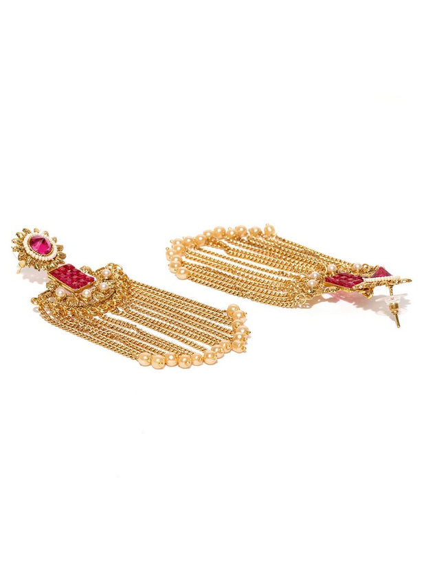 Women's Alloy Chandelier Earring in Gold