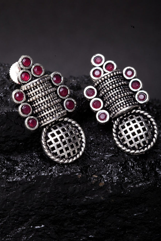Women's German Silver Studs in Silver