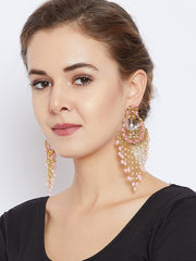 Women's Brass Chandbali Earring in Gold