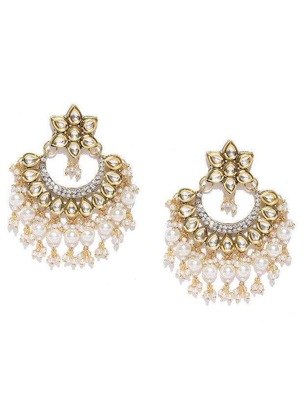 Women's Alloy Chandbali Earring in Gold