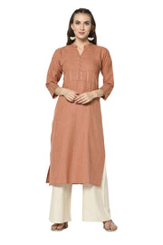 Buy Women's Rayon Printed Kurta in Brown