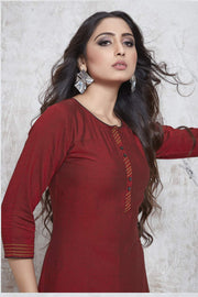 Shop Solid Work Kurta Online For Women