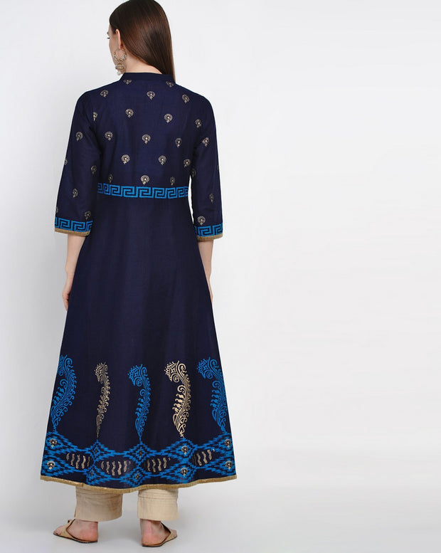 Long Anarkali Kurti Printed