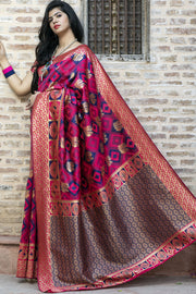 Buy Pink Party Wear Designer Saree