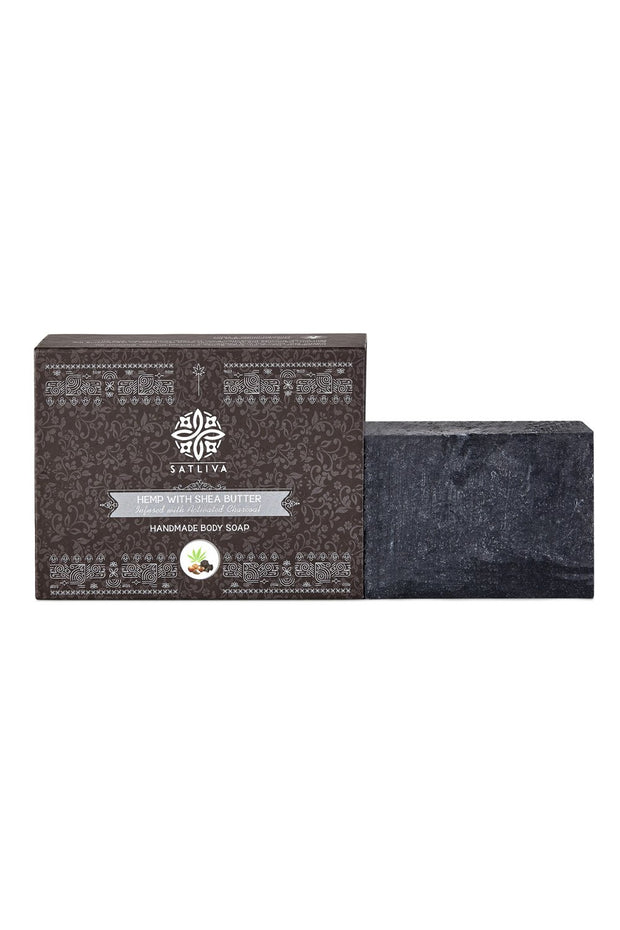 Hemp with Shea Butter and Activated Charcoal Soap Bar - 100 grams