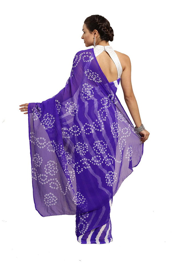 Chiffon Saree in Blue