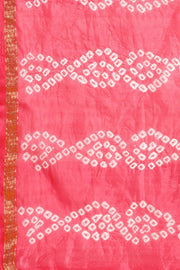 Art silk Printed Saree in Pink