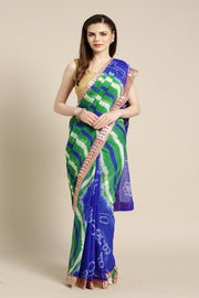 Art Chiffon Printed Saree in Blue