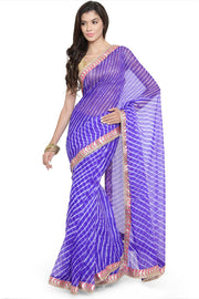 Geroo Jaipur Georgette Saree in Blue