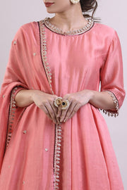 Chanderi Embroidered Suit Sets in Pink