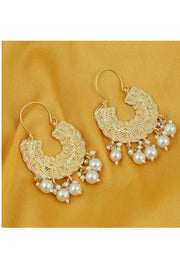 Women's Alloy Large Dangle Earring in Gold